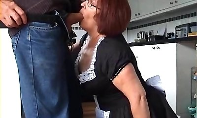 Velmadoo the French maid gasping on prick part 1