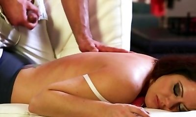 FantasyMassage Stepson makes Mom Cum