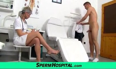 CFNM hospital porno with an European milf Beate
