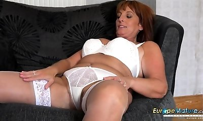 sexy mom in white underwear