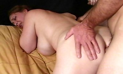 Mature girl anal penetrated by horny guys