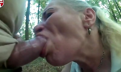 Pumped cock use poor escort throat and throat in forest