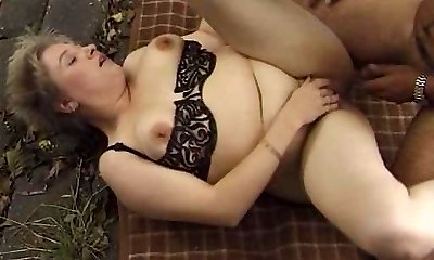 Chubby Mature Outdoor Ravage