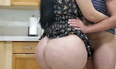 Hot Mom Boinking in kitchen