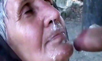 Fabulous homemade Facial, Grandmothers porn scene