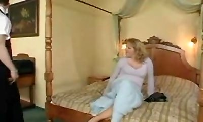 Horny Cougar fucked by waiter