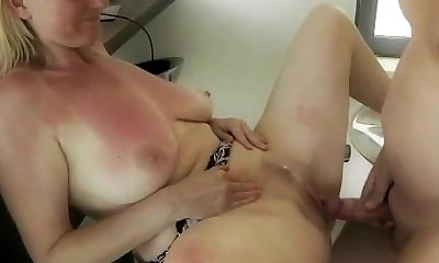 German Mature Creampie Free-for-all MILF Porno Video