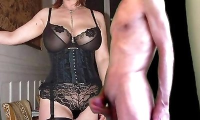 cuckold jizz for mature busty wife in stocking
