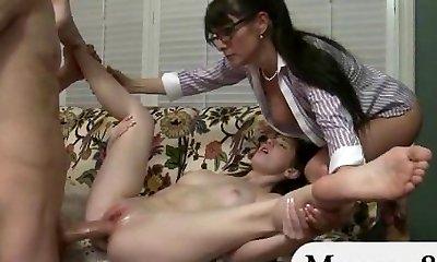 Teen gets caught deep-throating off her beau