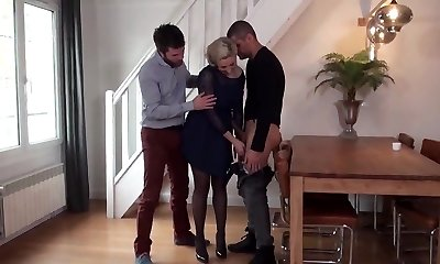French Mature Double Penetrated