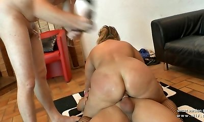 First-timer plus-size french mature sodomized DP fisted n facialized