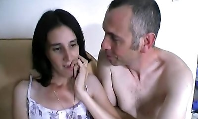 Internal Ejaculation surprise ! Elle gicle sur le canape without se retenir !!! French fledgling