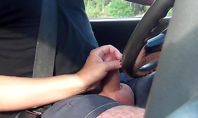Hand-job while driving