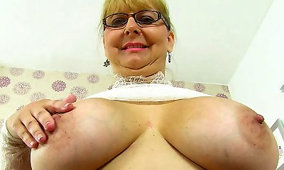 English milf Alexa looks delicious in her see-thru outfit