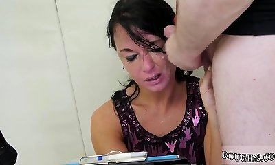 Mommy demonstrates off to pal and doll licking milf pussy first time