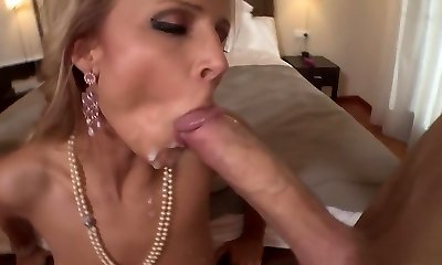 Exotic adult movie star Samantha Jolie in hottest mature, towheaded porn video
