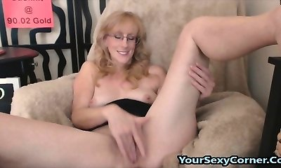 Fingering Fur Covered Poon And Butt Plugs Is What This Mature Lov