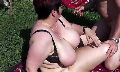 Fuck and Handballing Granny Pussy