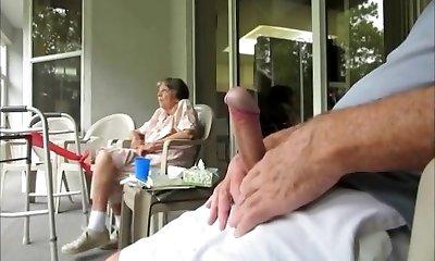 Grandma desired to observe me......i think