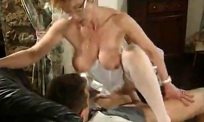 Mature French Nurse pummeled by 2 Guys