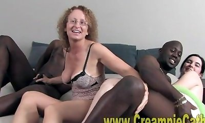 Bbc Leaves Huge Creampie