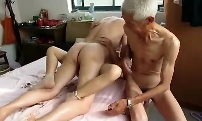 Amazing Homemade video with Three-way, Grandmothers scenes