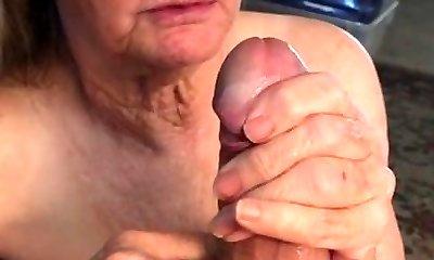 Grandma can't get enough jizz