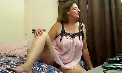 Hairy grandmother plays for you