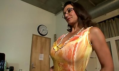 Best pornstars Persia Monir and Bonnie Skye in hottest brown-haired, getting off hardcore scene