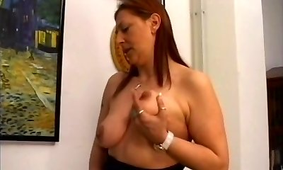 BBW Wooly Mature Woman with Younger Boy