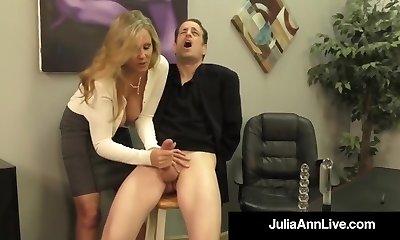 Adult Award Winner Julia Ann Faps A Manmeat With Hot HandJob!
