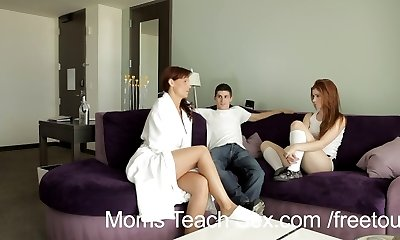 Moms Teach Sex - Sandy-haired teen gets sex lesson from stepmother