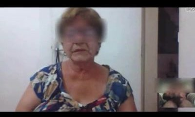 Brazilian granny captured draining on skype
