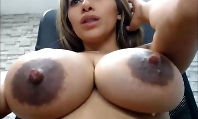SEXY LATINA BIG SAGGY White TITS