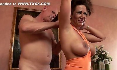 Insane pornographic star Anjelica Lauren in exotic mature, big tits sex scene