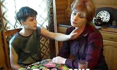 Teen guy hot penetrating yummy mom