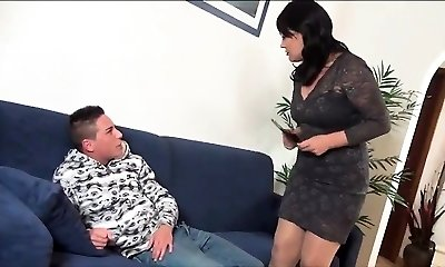 Hot milf gives boys excellent fucking lesson - 2 On HDMilfCam com