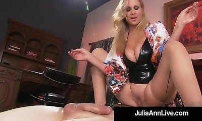 Boy Toy Gets Smothered By Glamorous Milf Julia Ann's Labia!