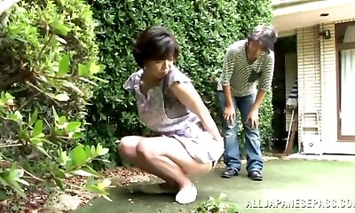 Japanese AV Model is a insane maid enjoying a hard fucking
