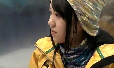 Extraordinaire Japanese whore Anna Momoi, Nozomi Wakui in Epic Gf, Public JAV video