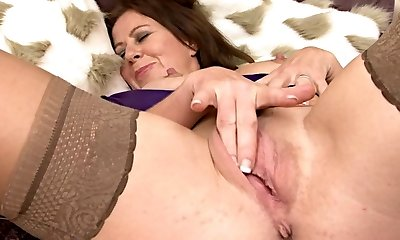 Sweet Mature in Stockings Drains