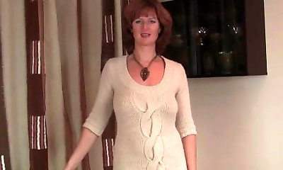 Mature redhead with hot bod