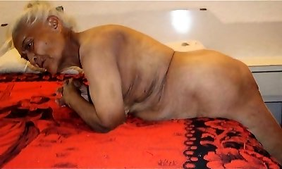 Plump Granny with Toys Then a Real Cock