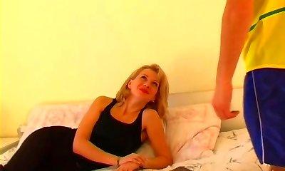 Hot mature milf mom in stockings