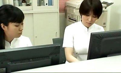 Super-naughty Japanese whore Emiri Momoka, Mirei Yokoyama, Aya Kiriya in Astounding Handjobs JAV flick