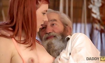 DADDY4K. Unexpected experience with an older gent