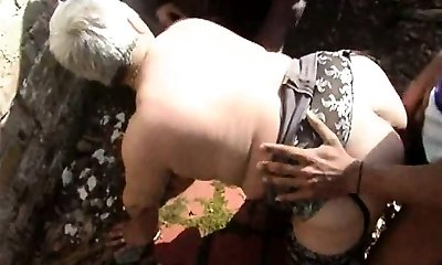 He shared his wifey Murielle in an outdoor gang-bang