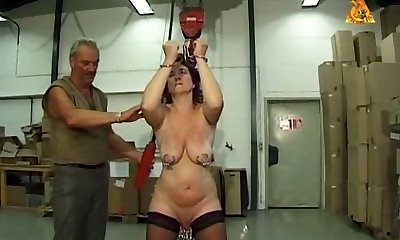 Mature victim slut Heidy with mighty genital n nip piercings