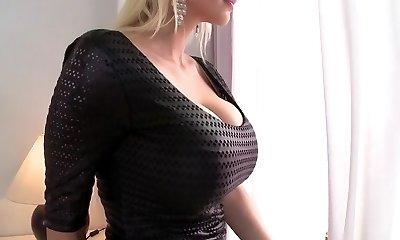 Crazy pornstar Sandra Star in epic mature, platinum-blonde adult clip