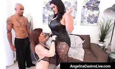 Cuban Plumper Angelina Castro & King Noir Make Sara Jay Submit!